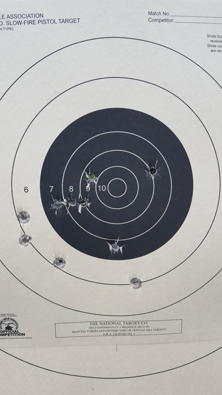 USP 45 Expert - X Ring accuracy at 25 yards