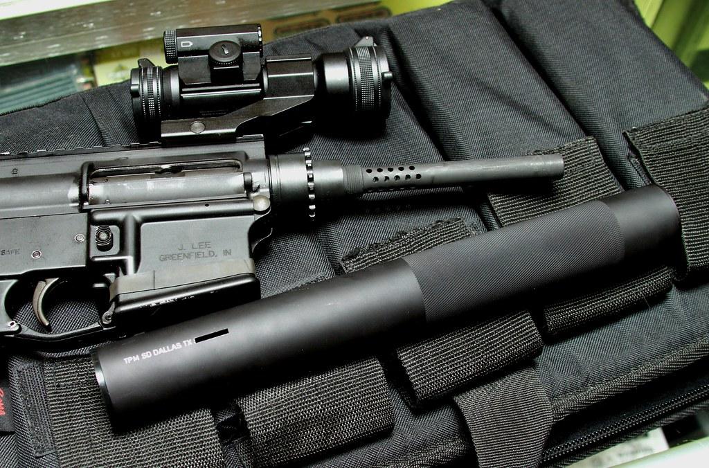 MP5 SD Silencer on my 9mm AR15 SBR-49457137933_ef54dacce8_b.jpg
