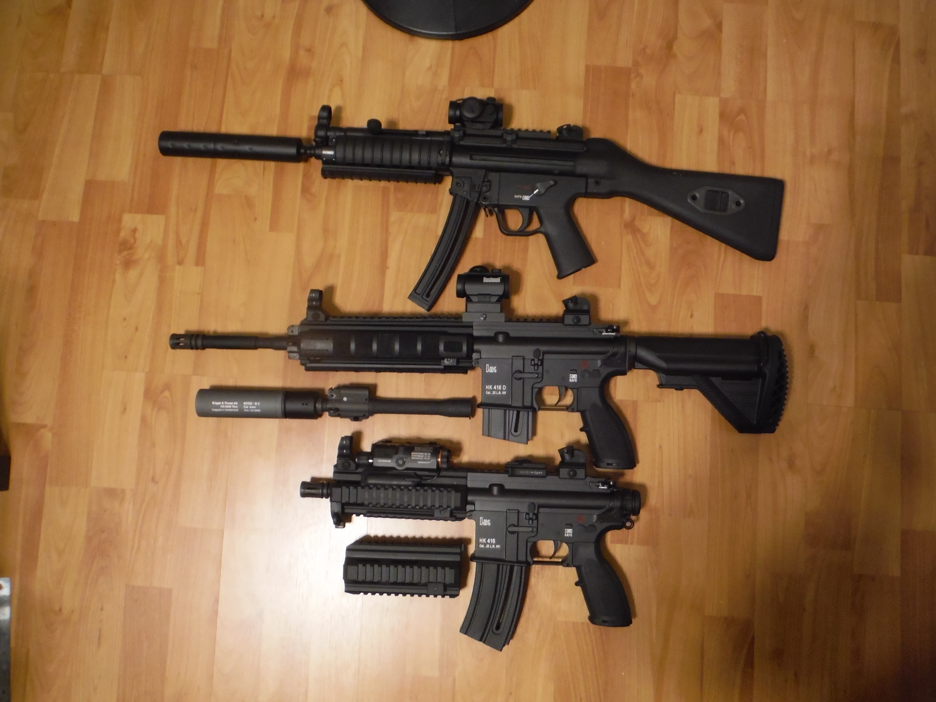 What airsoft accessories will fit a HK branded Umarex MP5  22?