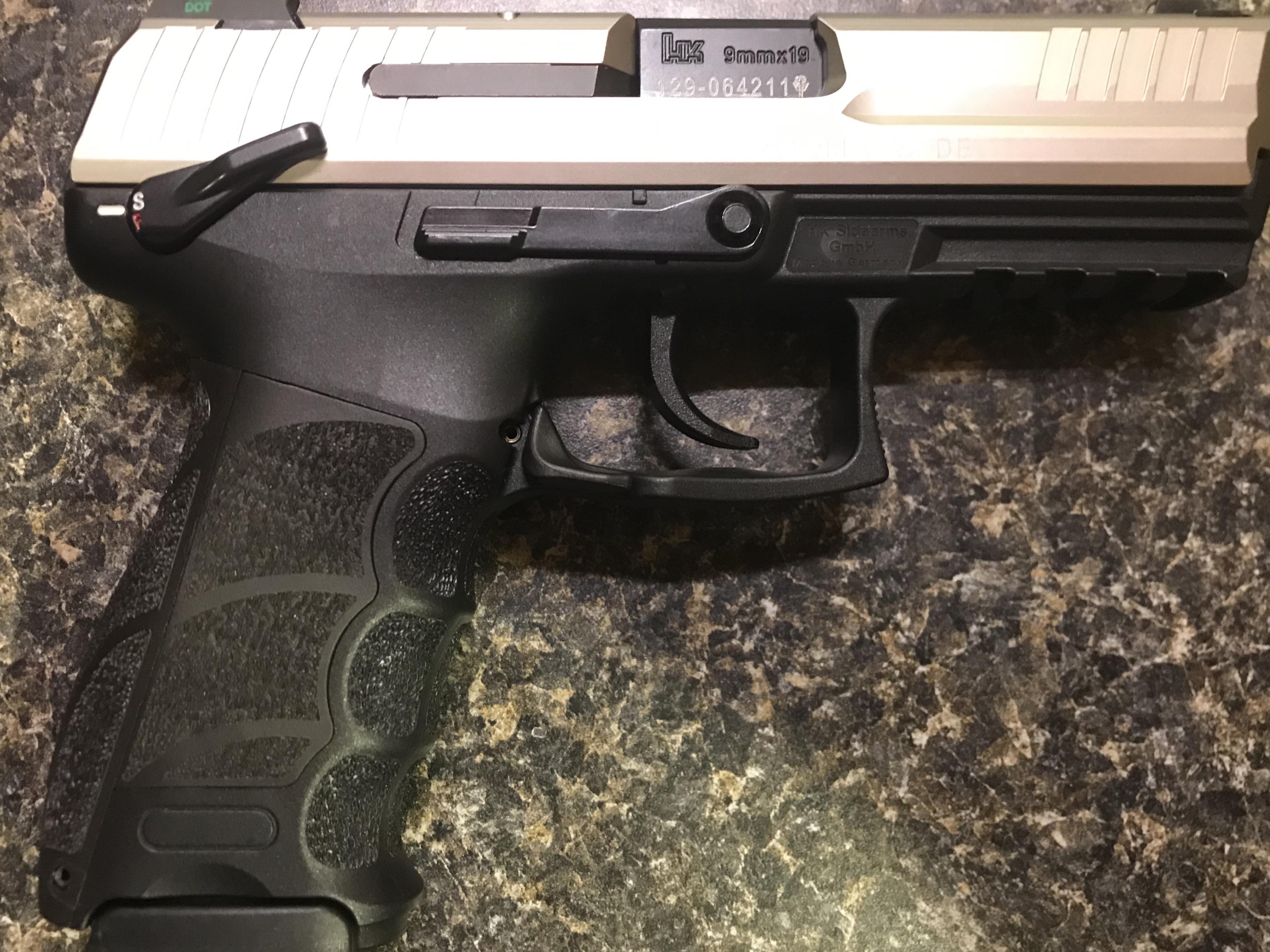 WTS: HK P30S, 9mm, custom finish, rare LEM with manual safety and night sights-f9cd17f6-362a-4a73-bc67-26210a2e81f0.jpeg