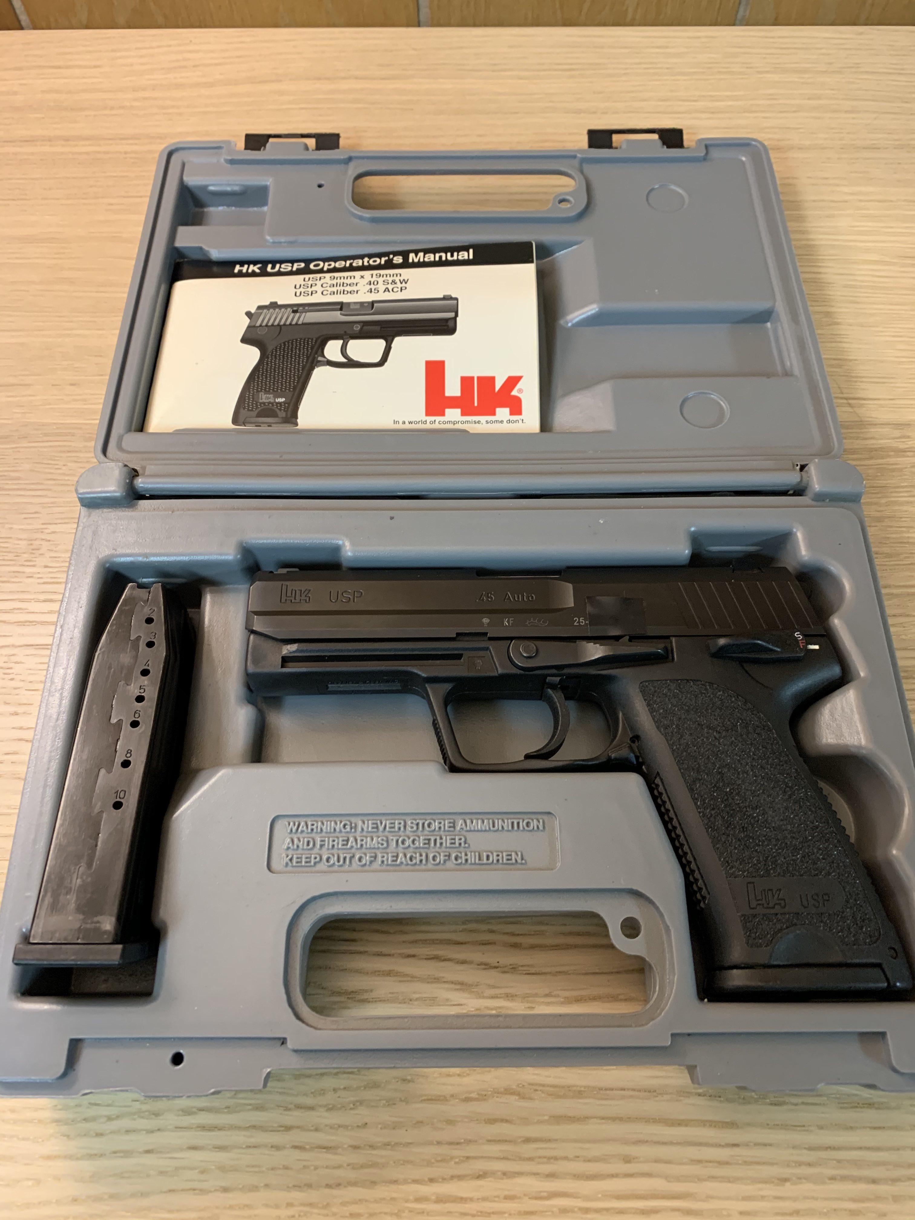 SOLD: HK USP45 V1 KF Lowered price 5 shipped FFL to FFL-hk-case.jpg