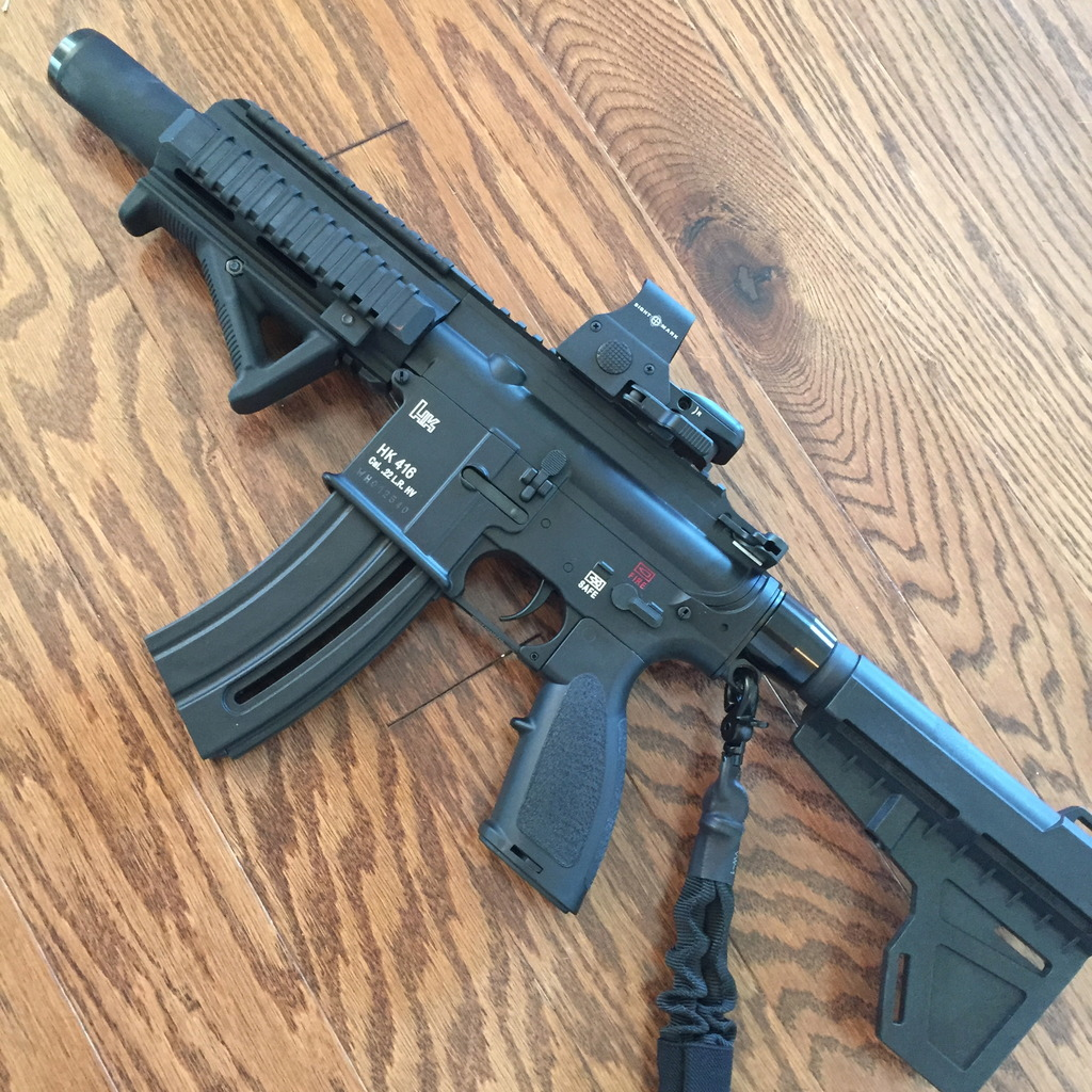 Finally Finished My Walther/HK 416 22 Pistol And Ready For