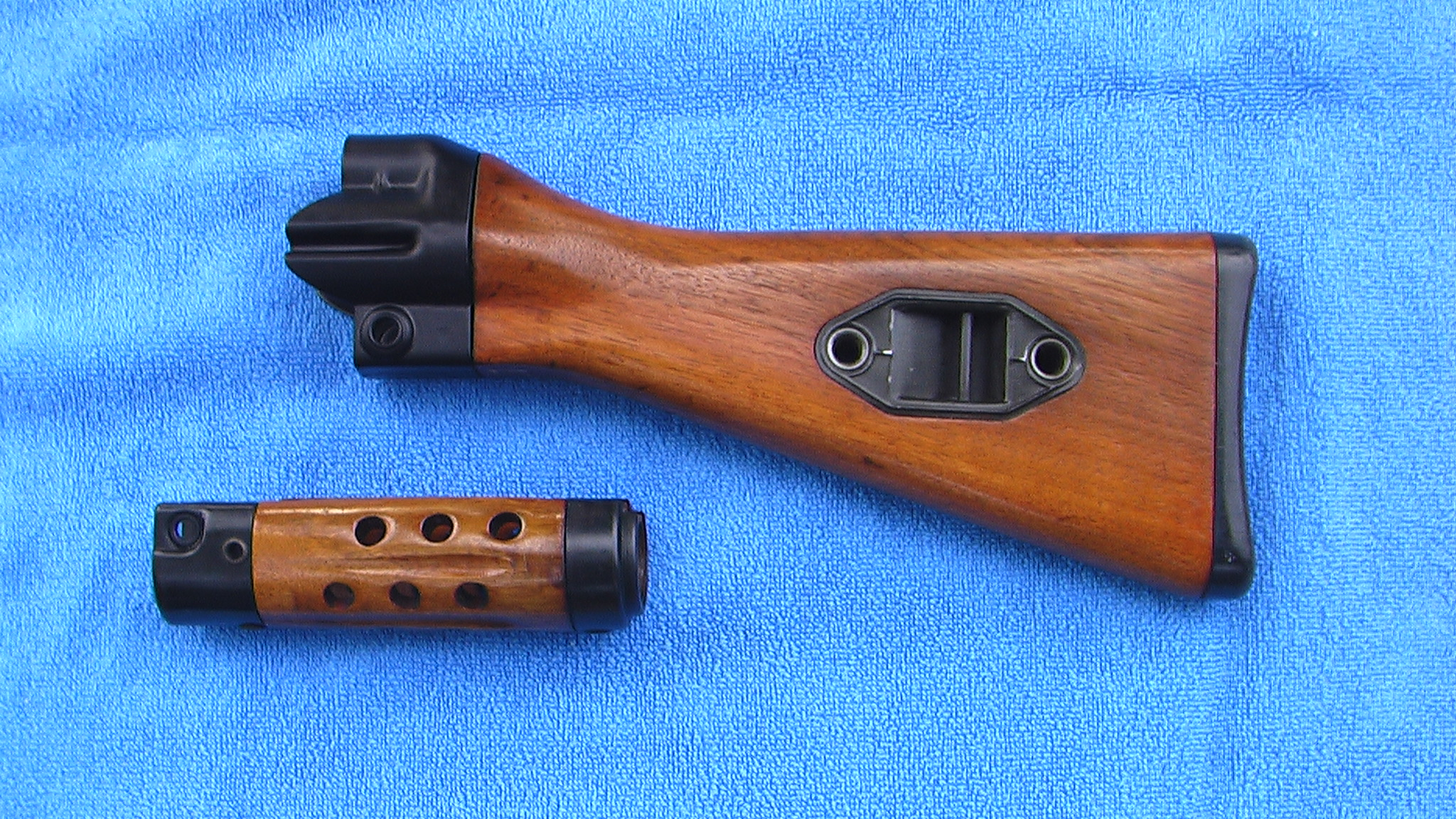 wts hk94 mp5 custom wood stock forearm set sold