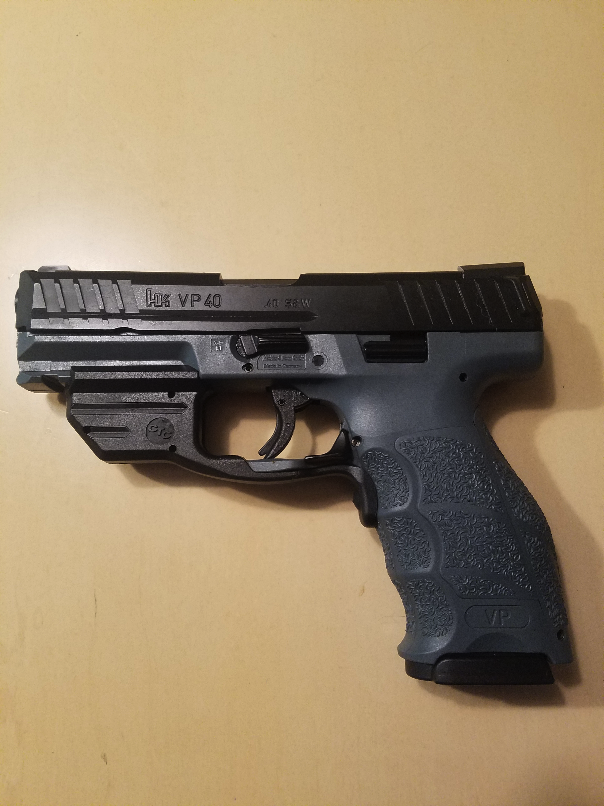 First trip to range with VP40 and new crimson trace laserguard