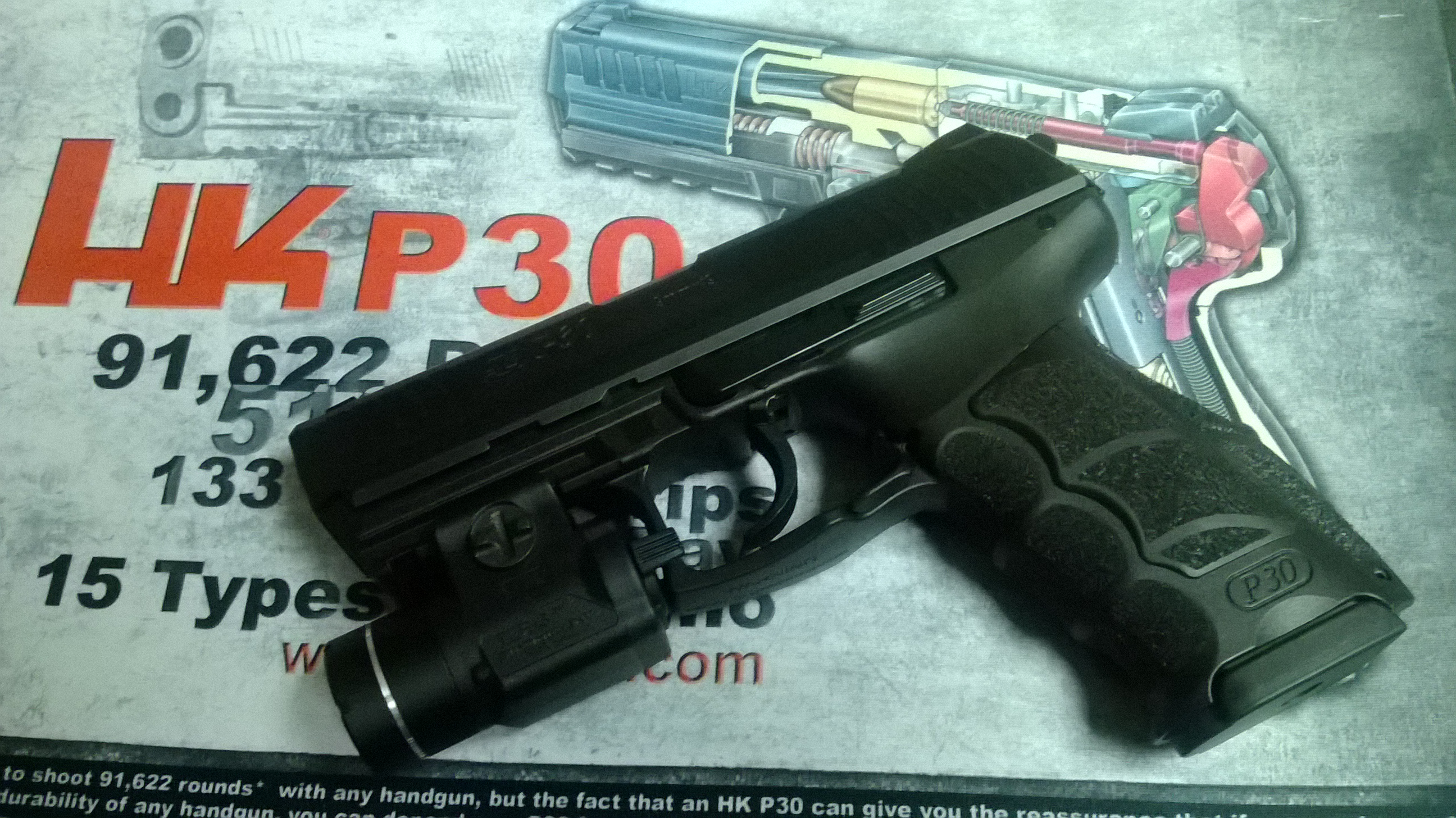 smith tactical flashlight force delta light wesson cs